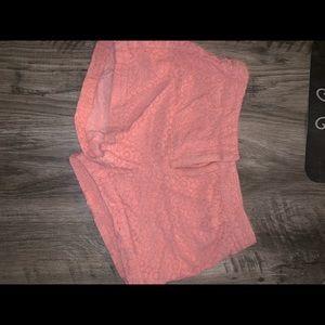 Light pink lace shorts